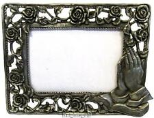 Photo Frame Praying Hands Roses Albrecht Durer Metal 12 x 9 cm