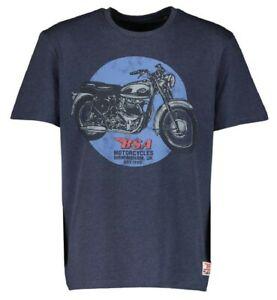 BSA Motorräder Est. 1903 Herren Blau Alter Effekt T-Shirts