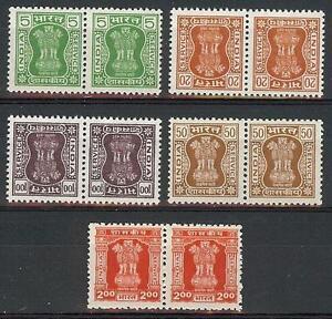 India 1982 Official Capital of Asoka Pillar pairs MNH