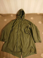 VTG Genuine US Army Military M51 1953 Fishtail Parka with Liner Sz L