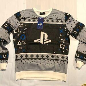 PlayStation Christmas Ugly Holiday Sweater Gamer M MEDIUM PS2 PS5 Xmas Geek NEW
