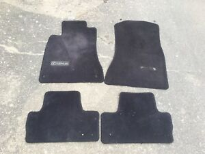 2006-2013 LEXUS IS250 IS350 INNER CARPET FLOOR MAT SET FRONT REAR BLACK OEM