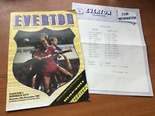 More details for very rare everton v norwich city programme with team sheet 1983/84