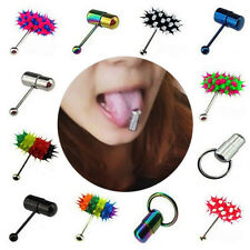 New Unique Punk Vibrating Tongue Bar Ring Stud Body Piercing Jewelry + Batteries