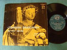 """CHANSONS FRANCAISES DU XVIE SIECLE / CHORALE JANEQUIN - 25cm 10"""" LP GID MMS 160"""