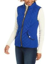 MSRP $70 Charter Club Quilted Stand-Collar Vest Blue Size Small