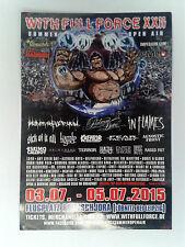 STICKER - WITH FULL FORCE XXII - WFF 2015 Heaven Shall Burn/Kreator/In Flames