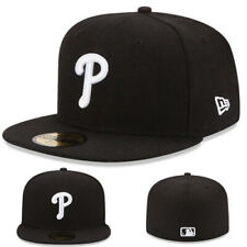 New Era Philadelphia Phillies Youth Fitted Hat Kids MLB Basic Boys Black Cap