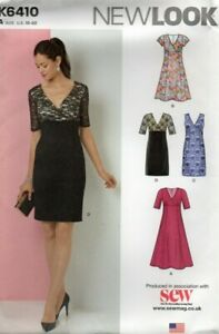New Look Sewing Pattern 6410 Dress with Slim or Full Skirt, Lace, Size 10-22 New