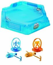 MAX STEEL ELEMENTOR TURBO BATTLER BATTLE SPINNIG TOY WITH ARENA FIGHT GROUND