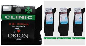 3 Pares calcetines ORION CLINIC 100% algodón sin goma no presiona no cae ESPAÑA