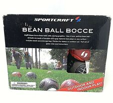 New Sportcraft Bean Ball Bocce  Indoor and Outdoor Game Instructions Carry Case