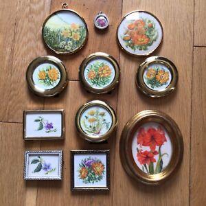 Artist Ina Maria Bachstein 11 Miniature Watercolour Paintings Floral & Botanical
