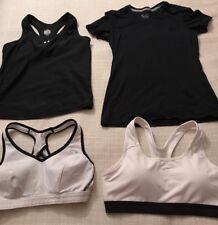 Lot 4 Underarmour NIKE Womens Active Shirts Top Sports Bra Black White S M L