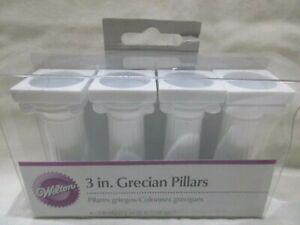 "Wilton 3"" Grecian Pillars for Tiered Cakes Set of 4 White"