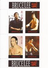 Angola - Martial Artist Bruce Lee - 4 Stamp Sheet - 1A-071