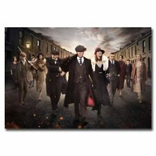 "Peaky Blinders Full Cast 12""x18"" TV Show Silk Poster Art Print Wall Decoration"
