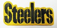 """LOT OF (1) NFL STEELERS EMBROIDERED  NAME IRON-ON PATCH (3"""" X 1 1/2"""") ITEM # 33"""