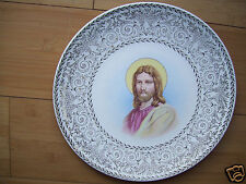 "Vintage Rare Knowles collector Religeous plate 10"" Jesus Gold trim"