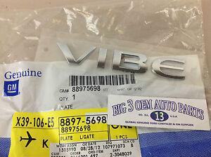 2009 - 2010 Pontiac Vibe Rear Liftgate Chrome VIBE EMBLEM new OEM 88975698