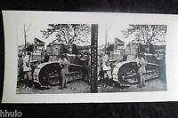 STA550 Tank renault stereoview Photo 1914 WW1 première guerre