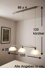 Lampe à suspension Plafonnier Lustre Lampe pendante Métal/Verre albâtre 44884