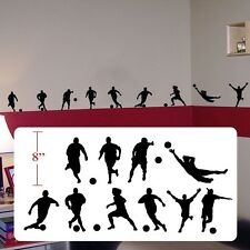 Soccer futbol player,soccer futbol silhouettes decal,fathead style sticker decal