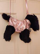 Confetti Girl's Purse Sequined Zipper Strap Dog Animal Plush