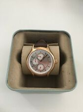 BNIB Fossil BQ1587E Ladies Rose Gold Tone Watch With Leather Brown Strap.