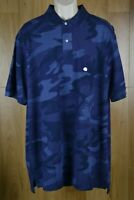 Polo Ralph Lauren Blue Camouflage Classic Polo Shirt Men Big Tall XLT or 5XB NWT