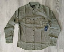 $60 NWT Lucky Brand Men's Long Sleeve Humboldt Workwear Olive Shirt - Size M