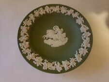 Green Wedgwood Small Saucer Made in England Horse & Carriage Free Shipping