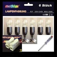 6 x Lampenfassung E27 + Glühlampe 100W Baufassung Baustellenfassung Kabel Klemme