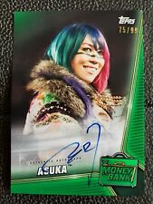 2019 Topps WWE Money In The Bank ASUKA Green Auto 75/99