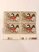 US Department of Interior Scott RW48 $7.50 Ruddy Ducks 1981 Block of 4 Stamps