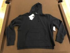 John Elliott Kake Mock Pullover Black Sweatshirt Hoodie 5 XXL New