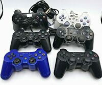 Lot of 6 Sony PlayStation 2 / Playstation 3 Controllers for Parts/Repair