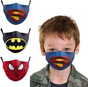 Kids Superhero Face Mask (SHIPS FROM USA)