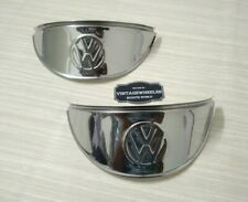 """VW CAMPER VAN HEADLIGHT PEAKS EMBOSSED CLASSIC CAR 7"""" STAINLESS STEEL SHADE"""