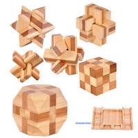 les adultes kong ming lock puzzle en bois jeu éducatif jouet qi enigme cube