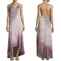 Young Fabulous & Broke Shanice Tie Dye Ombre Maxi Dress Women Size XS Purple NEW