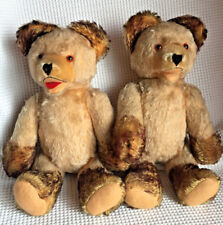 Antique Fechter lot Old Teddy Bear 13.8'' Growler Tipped Mohair Open Mouth Rare