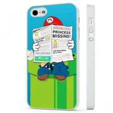 Super Mario divertido Nintendo 90S Blanco falsos funda de teléfono tapa se ajusta iPHONE