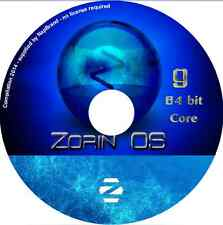 Zorin 9.1 CORE LTS 64 bit Laptop Desktop PC Linux Complete Operating System DVD