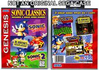 Sonic Classics 3-in-1 - Sega Genesis Custom Case *NO GAME*