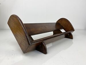 Stunning Antique Oak Book Cradle, Trough Shelf Makers Marked, D37
