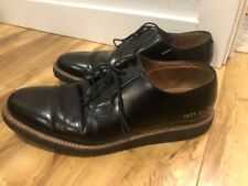 Common Projects 2133 Derby Shine Black Leather Rubber Crepe Sole Sneaker Size 41