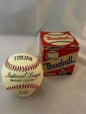 Vintage 1950's Trojan Brand T-150 Horsehide Cover Baseball - with Original Box