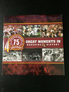 Washington Redskins Great Moments In Redskins History 75 Anniversary DVD New