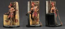tin toy soldiers  painted 75mm Native American with a gun